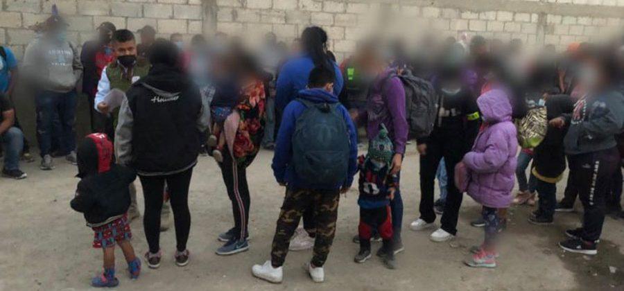 Migrantes rescatados en Tlaxcala, México