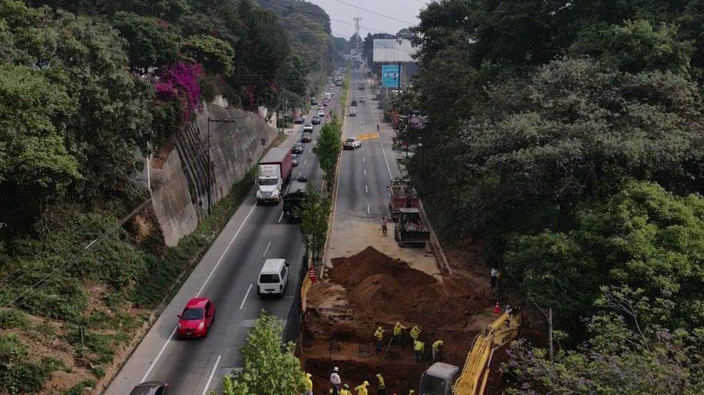 Paso a desnivel en San Lucas Sacatepéquez