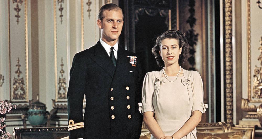 príncipe Felipe y la reina Isabel