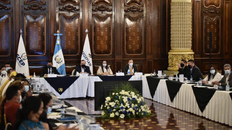 El presidente, Alejandro Giammattei, participó en la reunión del Consejo Nacional de Desarrollo Rural (Conadur).