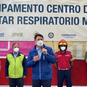 Centro de Bienestar Respiratorio en la zona 16 de la capital.