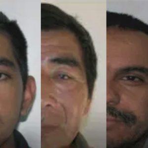 """Autoridades reportan la captura de tres personas incluidas en el listado de """"los más buscados""""."""