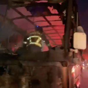Bus de Transportes Monja Blanca se incendia