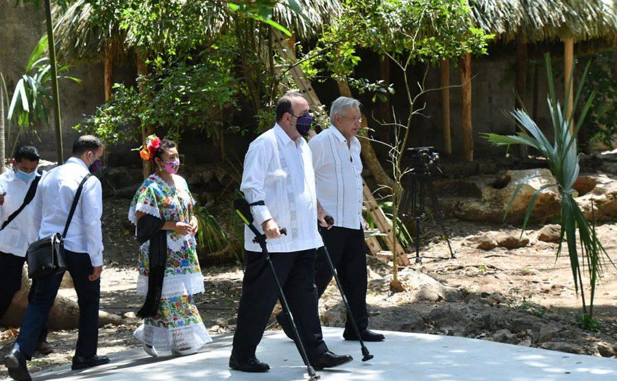 Alejandro Giammattei y Andrés Manuel López Obrador en Quintana Roo