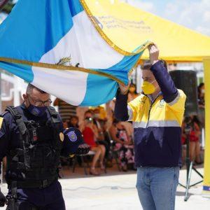 Alcalde Sebastián Siero gradúa a 43 nuevos agentes de la Policía Municipal de Santa Catarina Pinula
