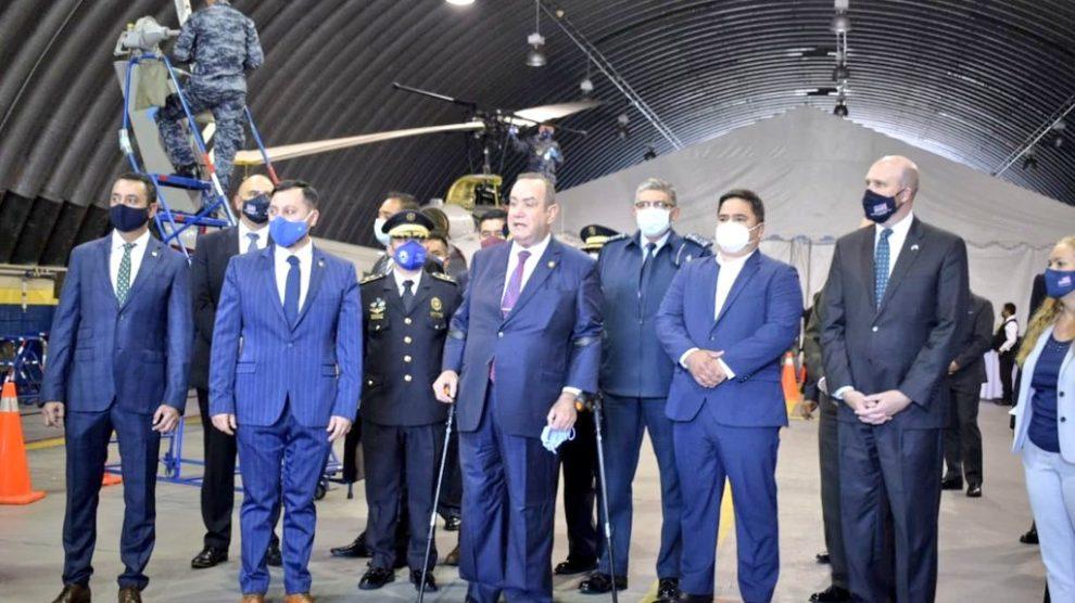 Autoridades guatemaltecas y estadounidenses participaron en la inauguración de la Fuerza de Tarea de Interdicción Aérea, Antinarcótica y Antiterrorista (FIAAT).