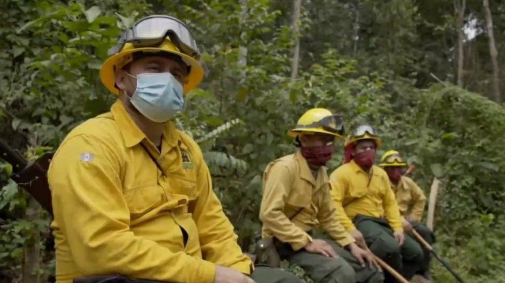 Temporada de incendios forestales en Petén.
