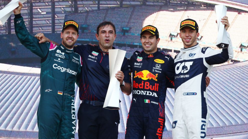 """Checo"" Pérez gana el Gran Premio de Azerbaiyán"