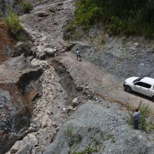 Colapso de paso vehicular en La Unión, Zacapa