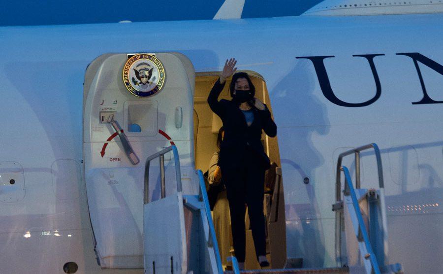 Vicepresidenta de los Estados Unidos, Kamala Harris, llega a Guatemala