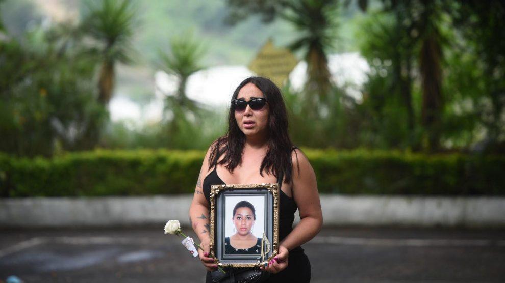 Entierran a activista Andrea González, asesinada en la zona 1