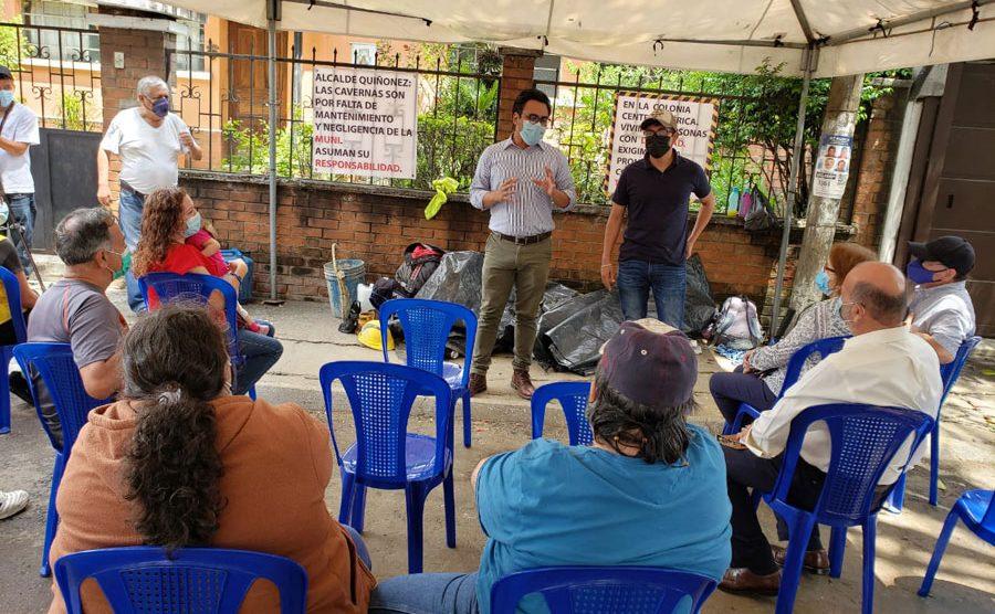 Vecinos de la colonia Centroamérica preocupados por cavernas bajo el Periférico