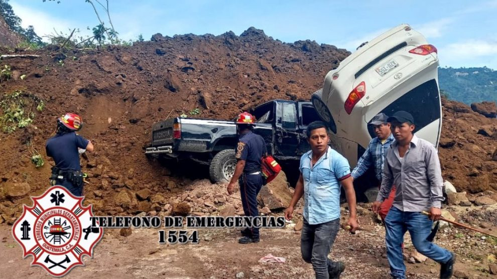 Derrumbe en Tajumulco, en San Marcos.