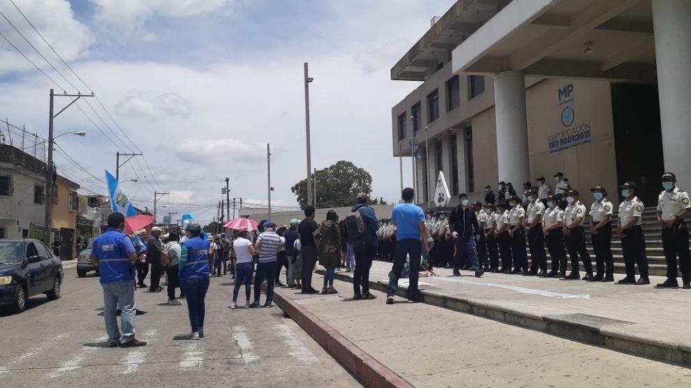 Nueva jornada de manifestaciones por la destitución Juan Francisco Sandoval, exjefe de la Fiscalía Especial contra la Impunidad (FECI).