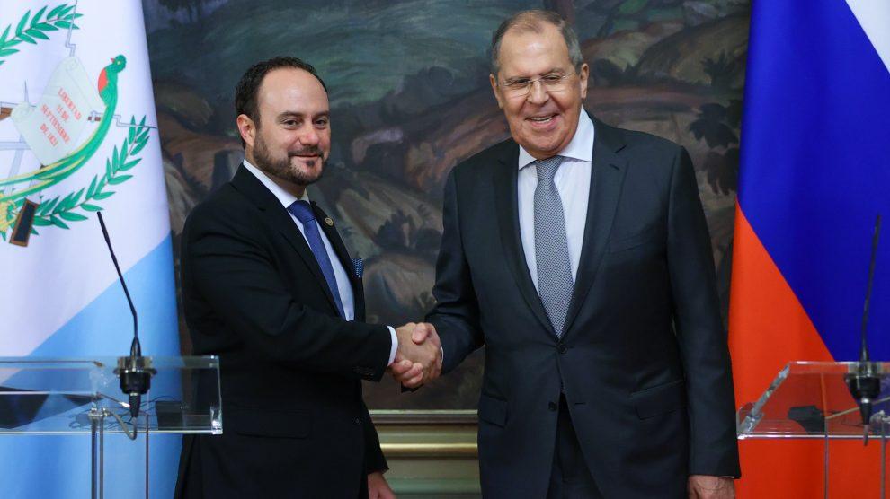 El canciller, Pedro Brolo, se reunió con su homólogo de Rusia, Serguéi Lavrov.