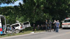 Accidente de pullman con vehículos livianos