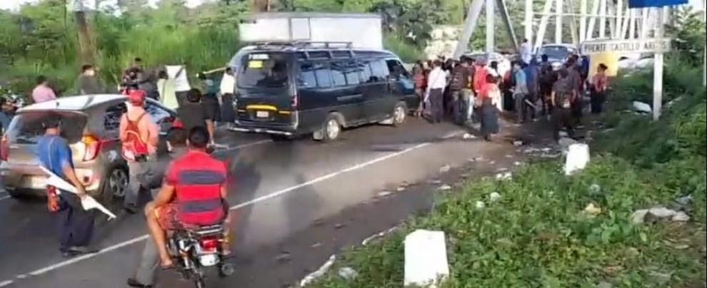 Bloqueos en carreteras de Guatemala