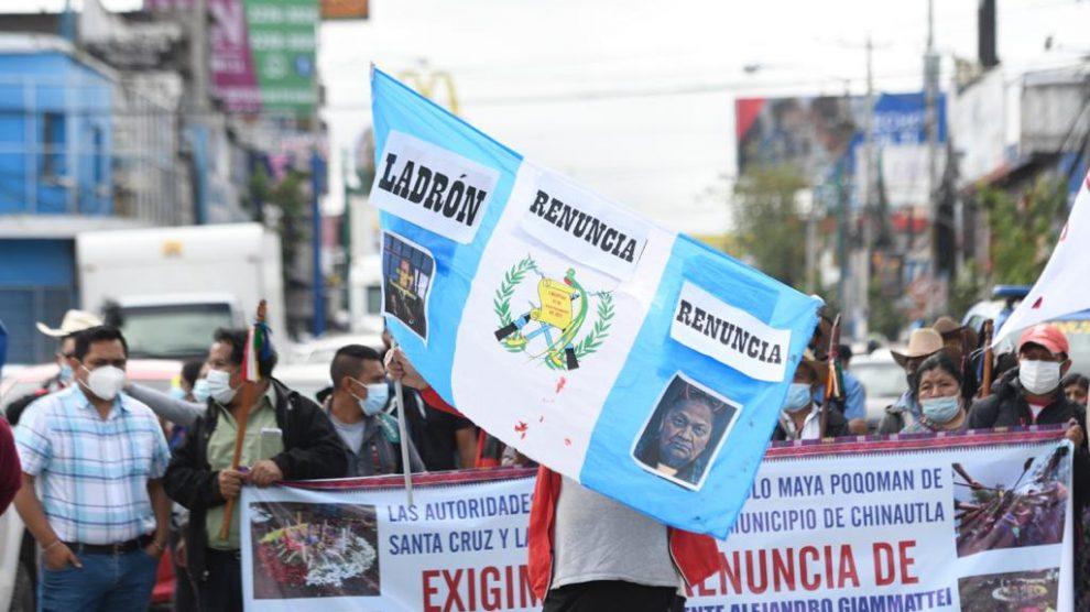 Sectores manifiestan contra la corrupción e impunidad.