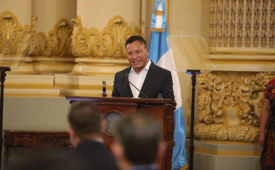 Martín Toc, presidente de la junta directiva de los 48 cantones de Totonicapán