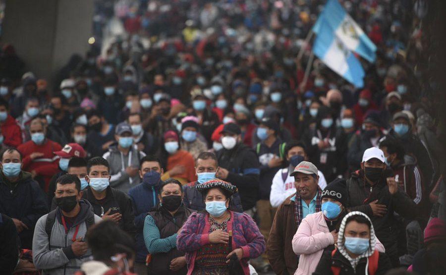 Manifestaciones en Totonicapán por el paro nacional