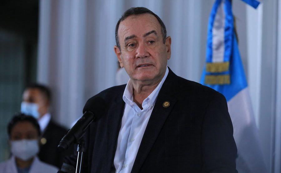 Presidente Alejandro Giammattei en el Parque de la Industria