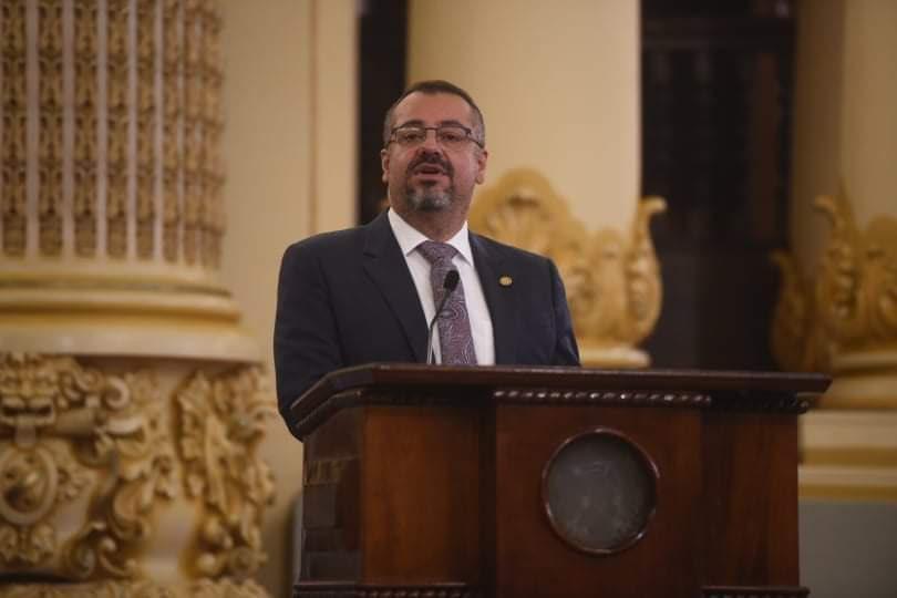 Felipe Aguilar, ministro de Cultura y Deportes