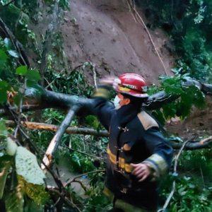 Incidentes por lluvias ocurridas en el interior del país