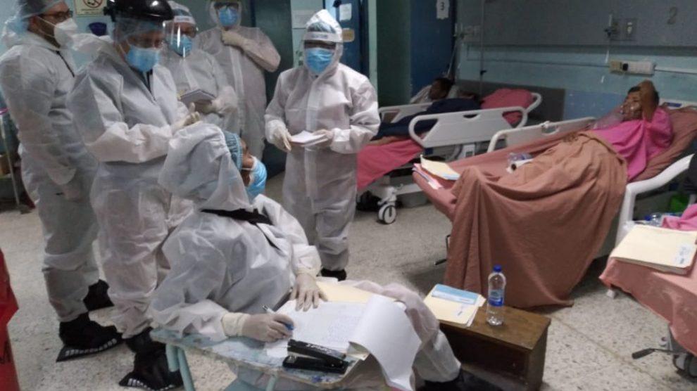PDH verifica situación del hospital San Juan de Dios por aumento de casos de Covid-19