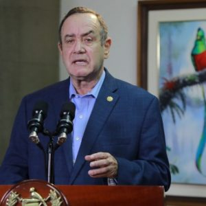 presidente Alejandro Giammattei en discurso