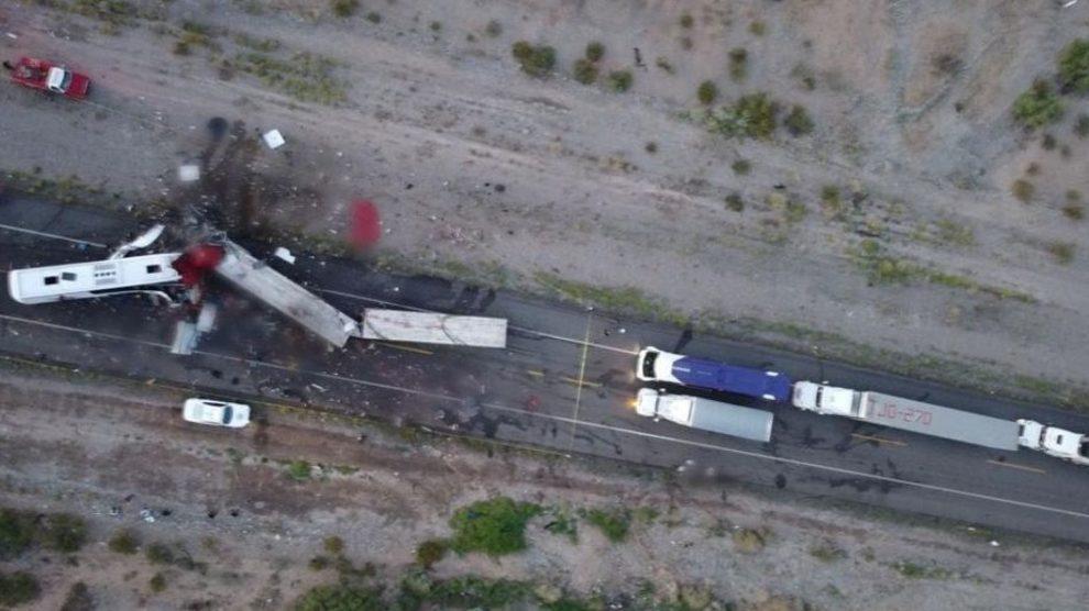 Accidente de tránsito en Sonora, México
