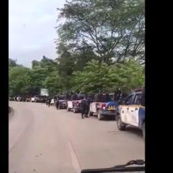VIDEO | Así es el fuerte despliegue de militares y policías en El Estor