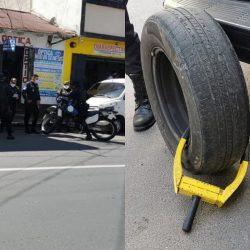 Conductor quita cepo a su auto en Quetzaltenango