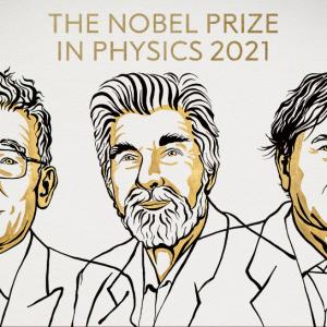 Syukuro Manabe, Klaus Hasselmann y Giorgio Parisi, ganadores del Premio Nobel de Física 2021.