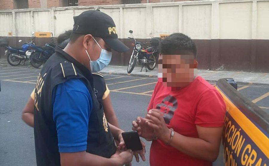Rudy Amílcar López Pablo, capturado por supuestamente participar en destrucción de monumentos