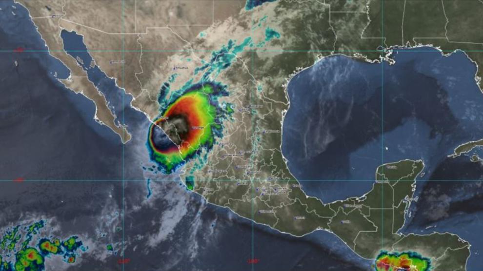 Huracán Pamela en México